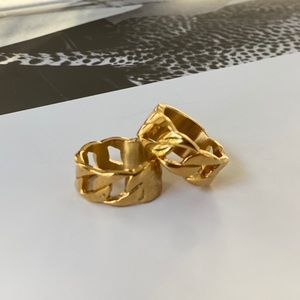 Gold Luxe Link Chain Rings